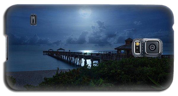 Full Moon Over Juno Beach Pier Galaxy S5 Case
