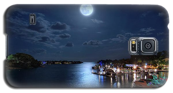 Full Moon Over Jupiter Lighthouse And Inlet In Florida Galaxy S5 Case