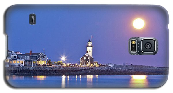 Full Moon Over Scituate Light Galaxy S5 Case
