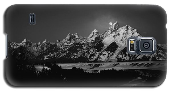 Full Moon Sets In The Tetons Galaxy S5 Case
