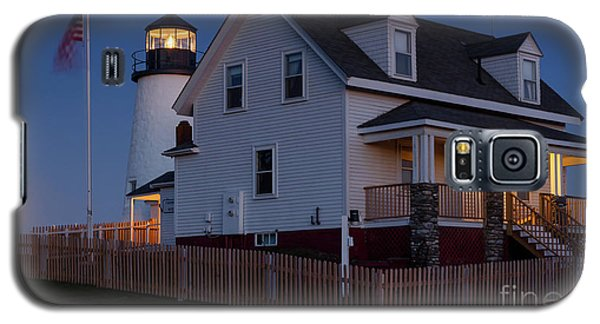 Full Moon Rise At Pemaquid Light, Bristol, Maine -150858 Galaxy S5 Case