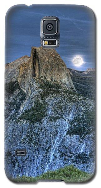 Full Moon Rising Behind Half Dome Galaxy S5 Case