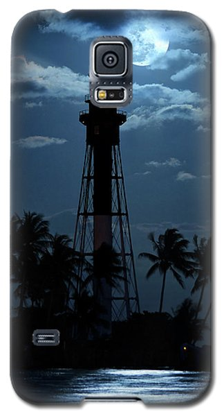 Full Moon Rising Over Hillsboro Lighthouse In Pompano Beach Florida Galaxy S5 Case