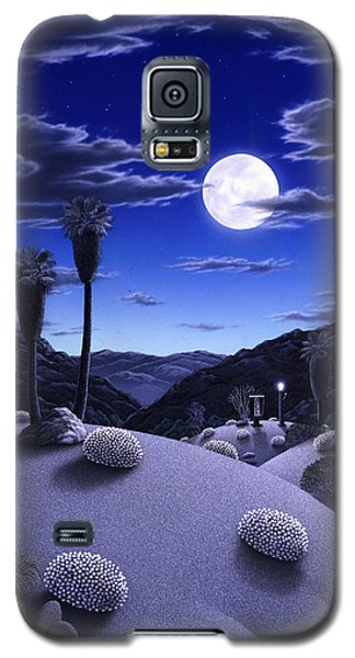 Desert Galaxy S5 Case - Full Moon Rising by Snake Jagger