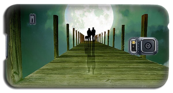 Full Moon Silhouette Galaxy S5 Case by Mim White