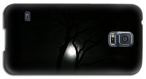 Galaxy S5 Case featuring the photograph Full Moon Through Trees by Marilyn Hunt