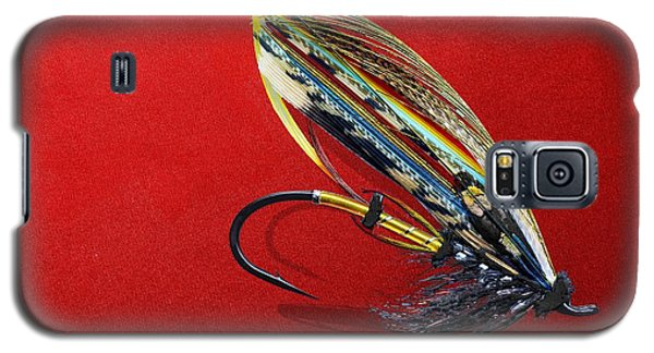 Nerd Galaxy S5 Case - Fully Dressed Salmon Fly On Red by Serge Averbukh