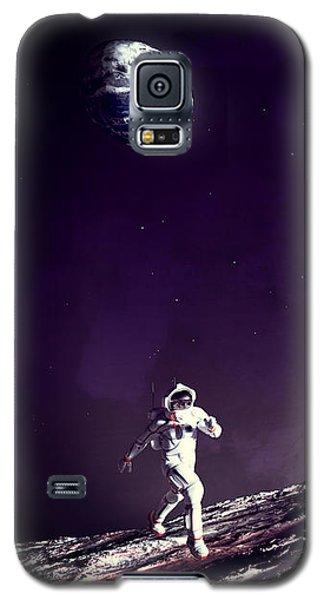 Galaxy S5 Case featuring the digital art Fun On The Moon by Methune Hively