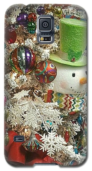 Fun Snowman Holiday Greeting Galaxy S5 Case