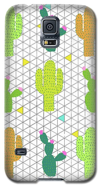 Funky Cactus Galaxy S5 Case by Nicole Wilson