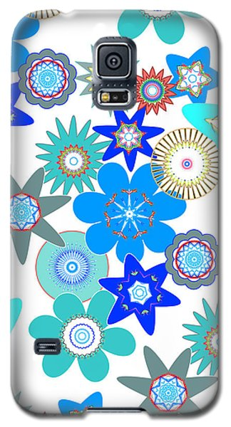 Funky Flower Pattern Galaxy S5 Case by Methune Hively