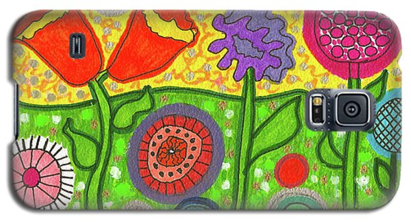 Funky Flowers All In A Row Galaxy S5 Case