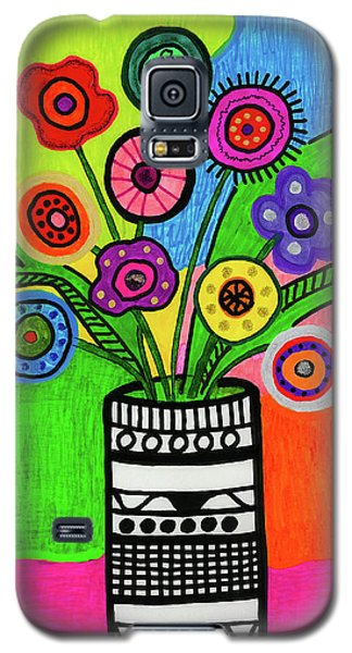 Funky Folk Flowers Galaxy S5 Case