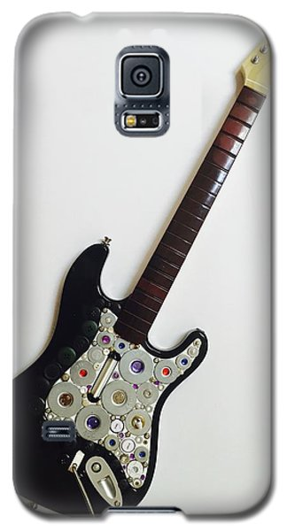 Galaxy S5 Case featuring the sculpture Funky Guitar by Douglas Fromm