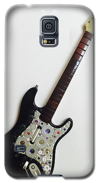 Funky Folk Art Guitar Galaxy S5 Case by Douglas Fromm