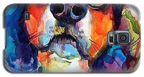 Galaxy S5 Case - Funny Beagle Watercolor Portrait By by Svetlana Novikova