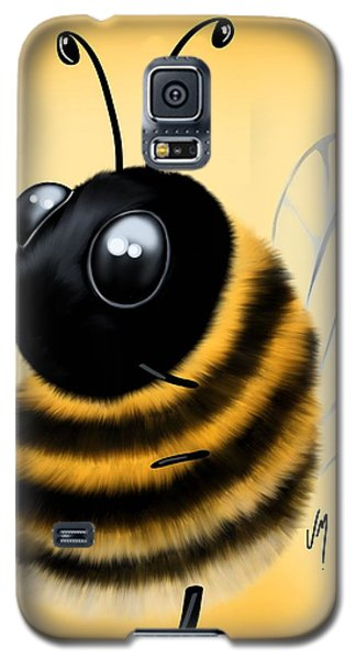 Galaxy S5 Case featuring the painting Funny Bee by Veronica Minozzi