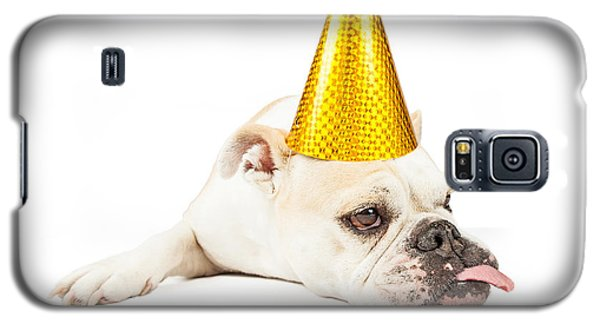 Funny Bulldog Wearing A Yellow Party Hat  Galaxy S5 Case