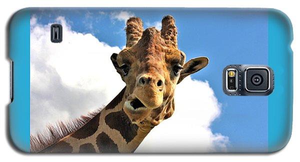 Funny Face Giraffe Galaxy S5 Case