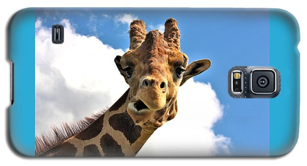 Funny Face Giraffe Galaxy S5 Case