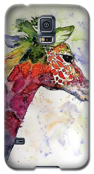 Galaxy S5 Case featuring the painting Funny Giraffe by Kovacs Anna Brigitta
