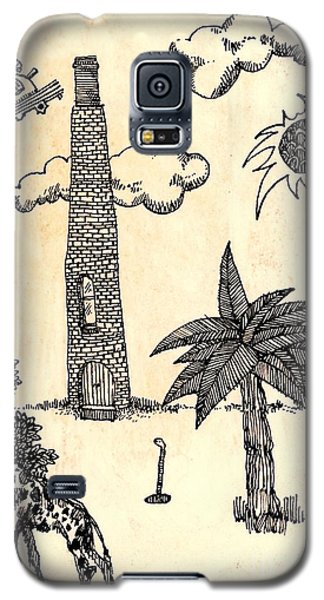 Galaxy S5 Case featuring the drawing Funny Stuff by Carolyn Weltman