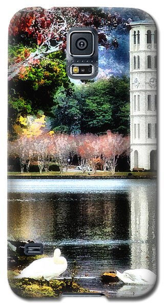 Galaxy S5 Case featuring the painting Furman University Bell Tower by Lynne Jenkins