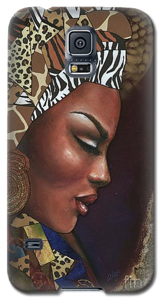 Galaxy S5 Case featuring the mixed media Further Contemplation by Alga Washington