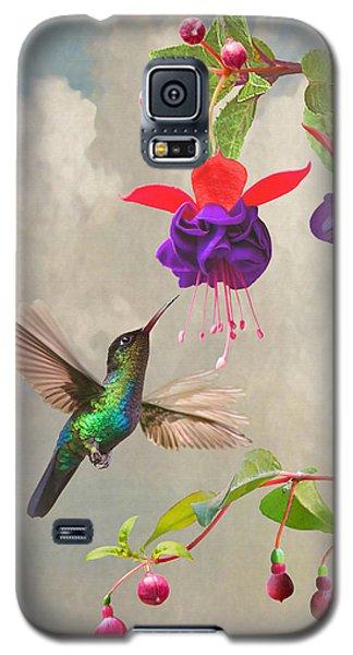 Fuchsia And Hummingbird Galaxy S5 Case
