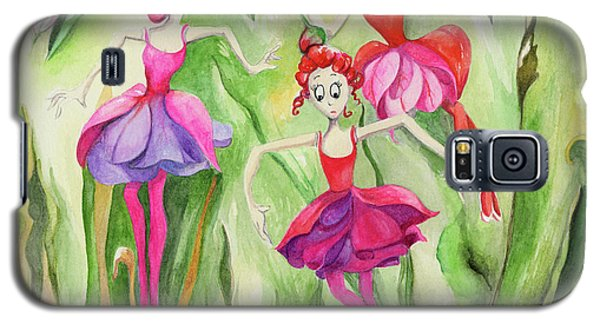 Galaxy S5 Case featuring the painting Fuschia On Discovering The Truth by Nadine Dennis
