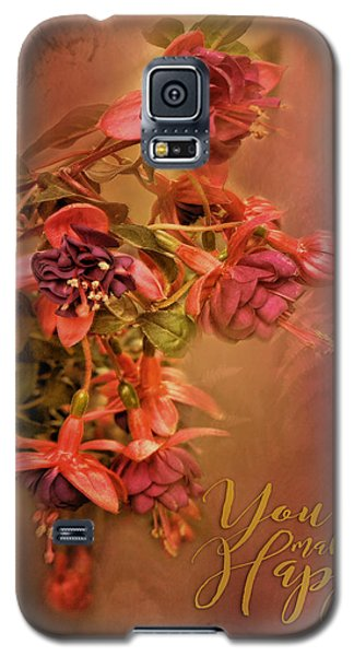 Fushia Bouquet Galaxy S5 Case