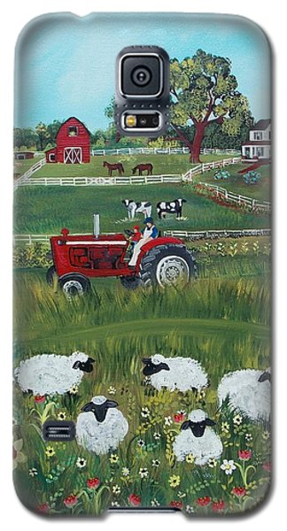 Galaxy S5 Case featuring the painting Future Farmer by Virginia Coyle