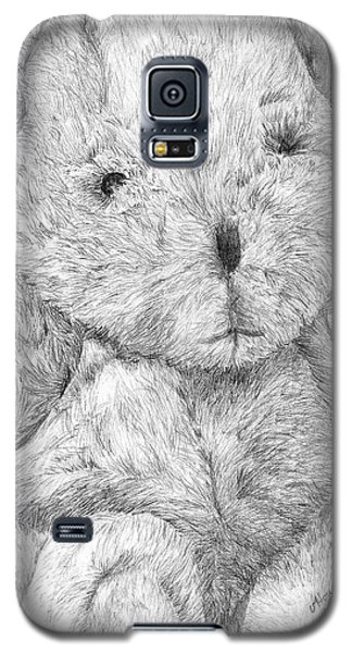 Galaxy S5 Case featuring the drawing Fuzzy Wuzzy Bear  by Vicki  Housel