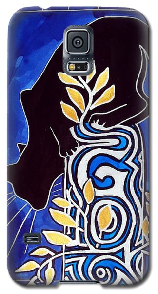 G Is For Gato - Cat Art With Letter G By Dora Hathazi Mendes Galaxy S5 Case by Dora Hathazi Mendes
