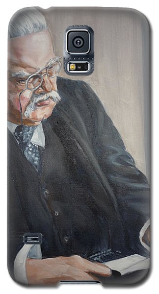 Galaxy S5 Case featuring the painting G K Chesterton by Bryan Bustard