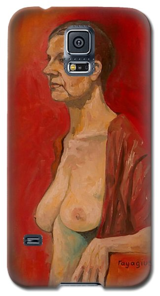 Galaxy S5 Case featuring the painting Gabrielle Standing by Ray Agius