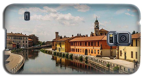 Gaggiano On The Naviglio Grande Canal, Italy Galaxy S5 Case