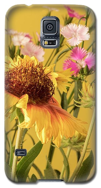 Galaxy S5 Case featuring the photograph Gaillardia And Dianthus by Richard Rizzo