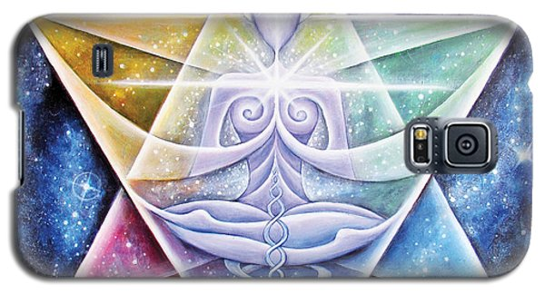 Galaxy S5 Case featuring the painting Galactic Starseed Goddess by Tiffany Davis-Rustam