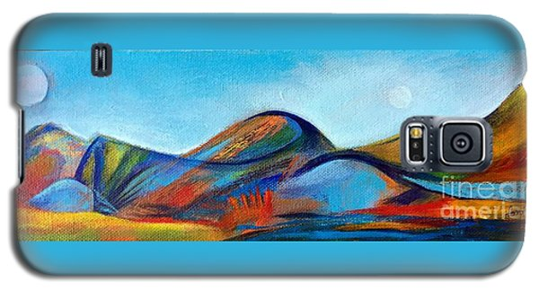 Galaxy S5 Case featuring the painting Galaxyscape by Elizabeth Fontaine-Barr