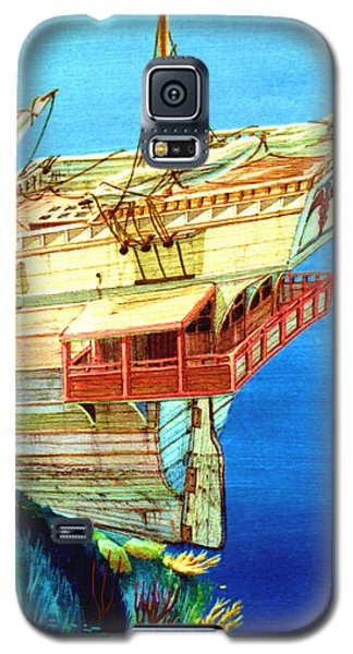 Galleon On The Reef 2 Filtered Galaxy S5 Case