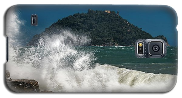 Gallinara Island Seastorm - Mareggiata All'isola Gallinara Galaxy S5 Case