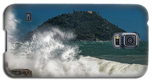 Gallinara Island Seastorm - Mareggiata All'isola Gallinara Galaxy S5 Case