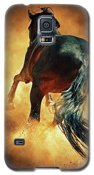 Galloping Horse In Fire Dust Galaxy S5 Case