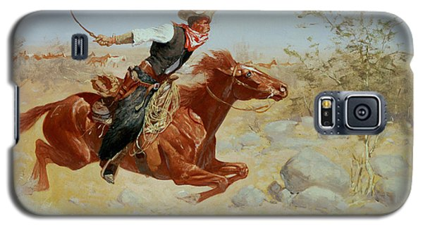 Galloping Horseman Galaxy S5 Case by Frederic Remington