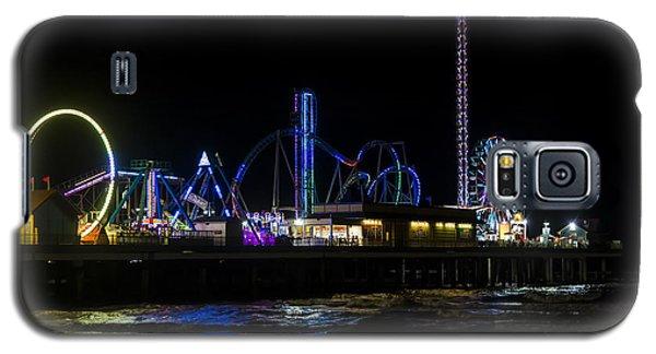 Galveston Island Historic Pleasure Pier At Night Galaxy S5 Case