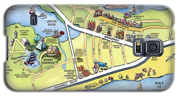 Galveston Texas Cartoon Map Galaxy S5 Case
