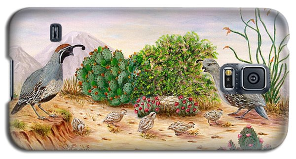 Gambel Quails Day In The Life Galaxy S5 Case by Judy Filarecki