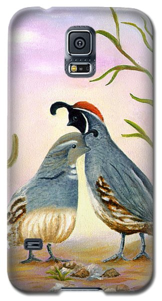 Gambel Quails Friends Forever Galaxy S5 Case by Judy Filarecki