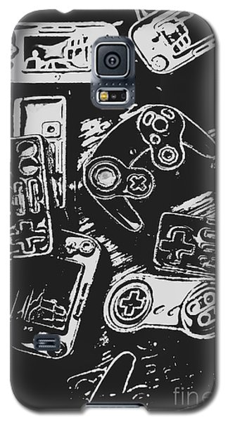 Game Play In Blocks And Lines Galaxy S5 Case